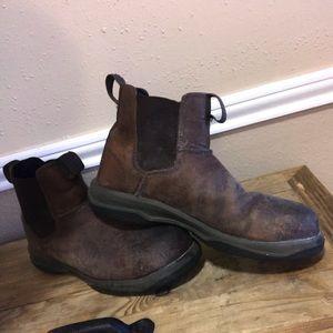 Men's Work Boots (BRAND) is WORK
